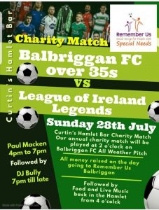 Charity Football Match on Sunday 28th July – PLEASE SUPPORT